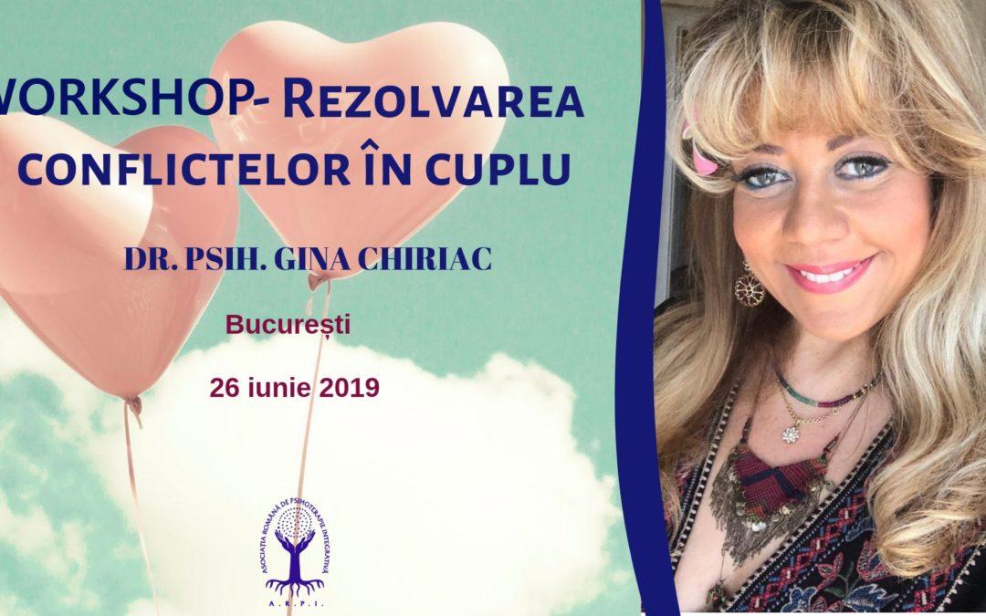 Workshop- Rezolvarea conflictelor în cuplu, București