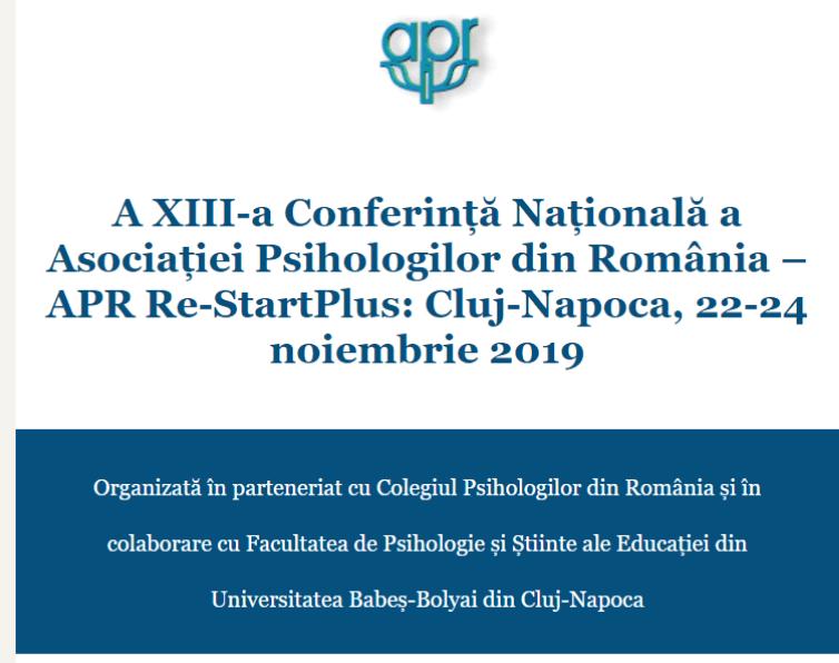 A XIII-a Conferință Națională a Asociației Psihologilor din România